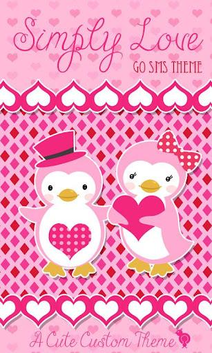 Cute Love Penguin Theme