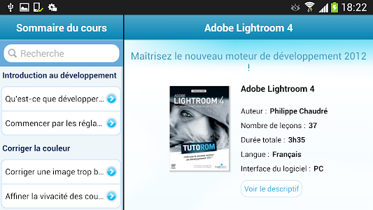 Tuto Adobe Lightroom 4 screenshot 0