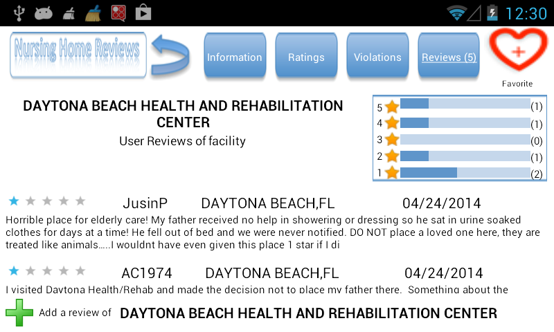 Nursing Home Reviews- screenshot