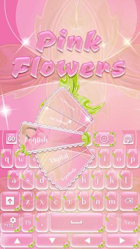 GO键盘粉红色的花朵