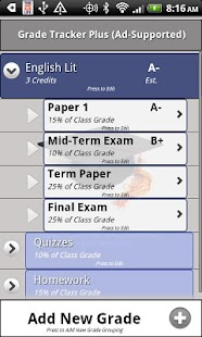 Grade Tracker Plus - screenshot thumbnail