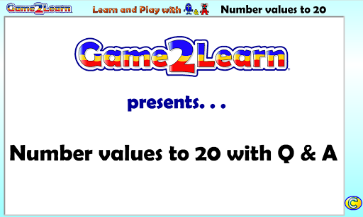 Number values to 20 with Q A