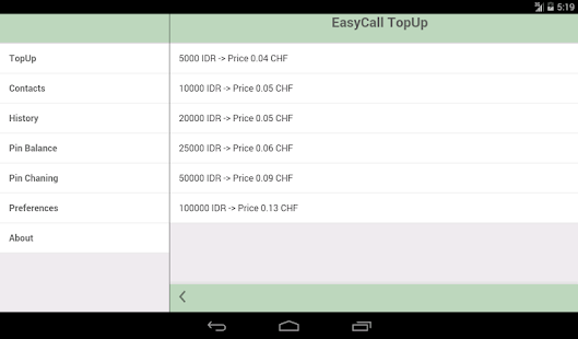 EasyCall TopUp- screenshot thumbnail