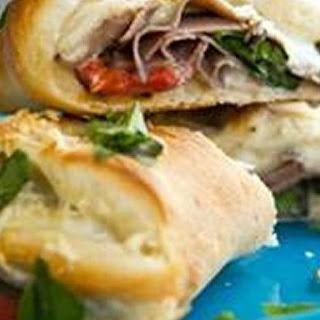 Hot Cheesy Roast Beef Sandwich