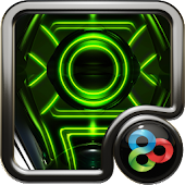 green glow GO Launcher EX