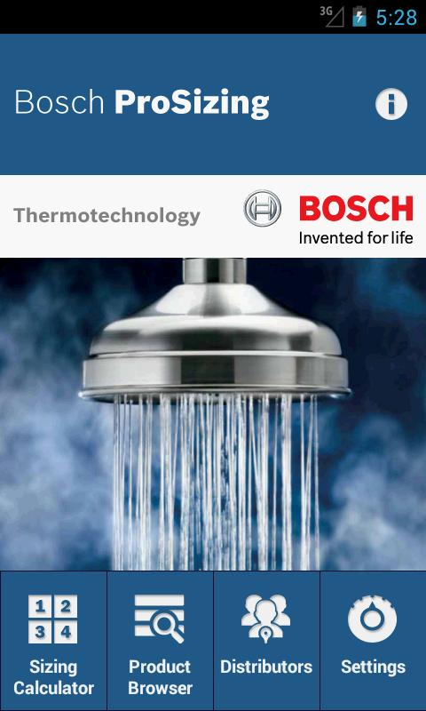 Bosch ProSizing - screenshot