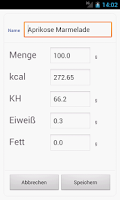Screenshot of Cuke Food Database