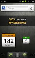 Screenshot of DaysUntil Widget