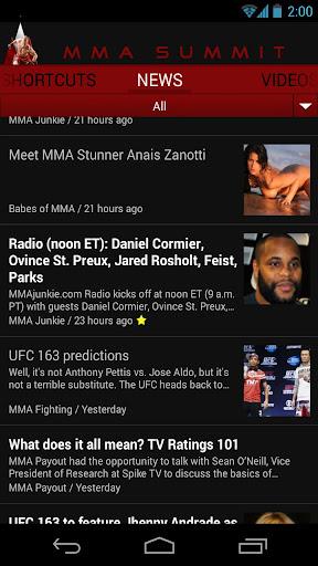 MMA Summit: 綜合格鬥終極格鬥冠軍賽新聞