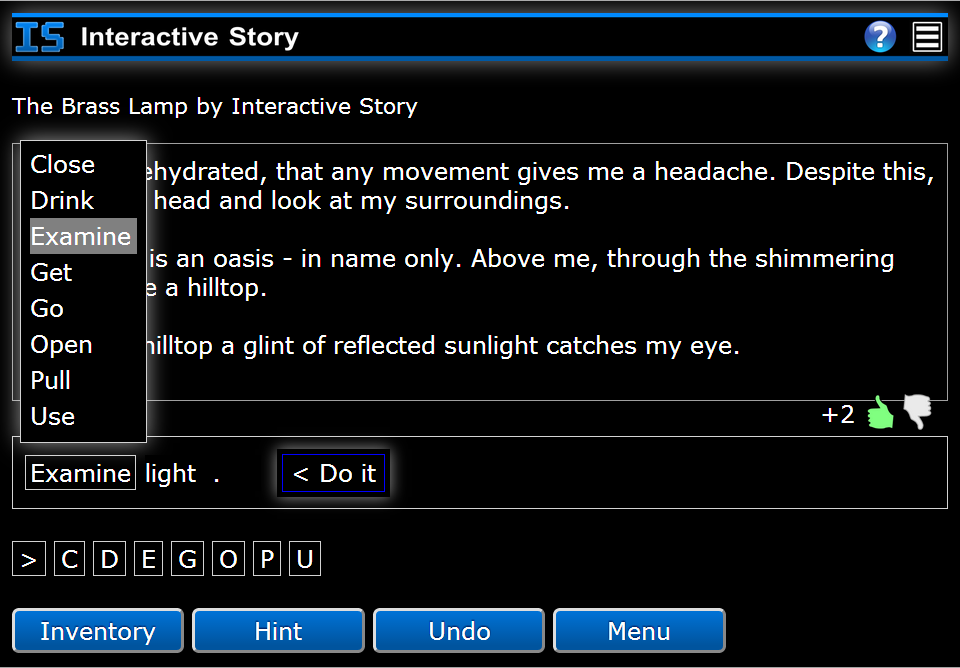 Interactive Story- screenshot