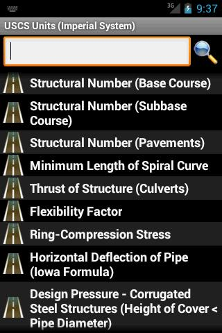 Highway and Road Calculator - screenshot