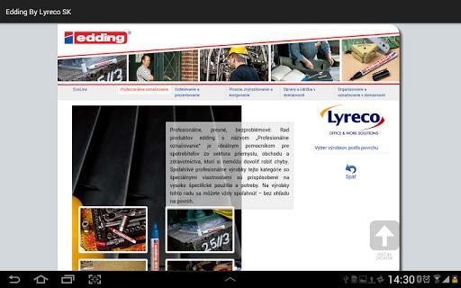玩工具App|edding by Lyreco SK免費|APP試玩