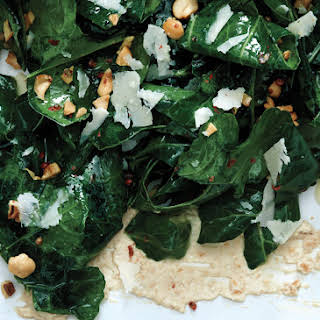 Collard Green Salad with Cashews and Lime.
