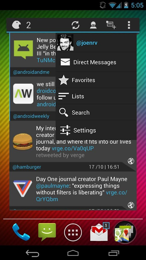 Falcon Widget (for Twitter) - screenshot