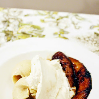 Bananas Foster with Cherimoya Ice Cream