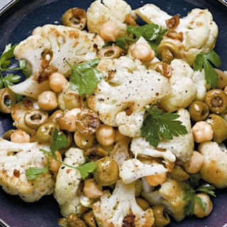 Cooking Light The Complete Quick Cook's Roasted Cauliflower, Chickpeas, and Olives