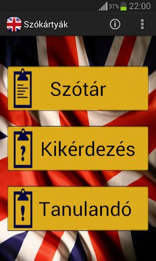 Szókártyák Angol