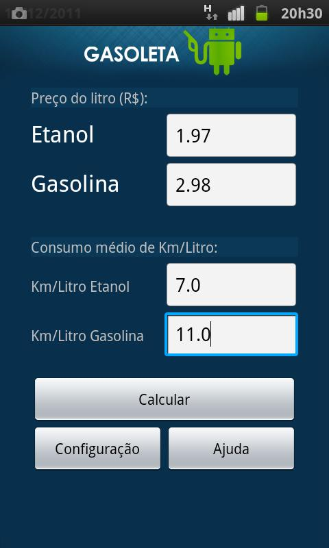 Gasoleta - Gasolina ou Etanol?- screenshot