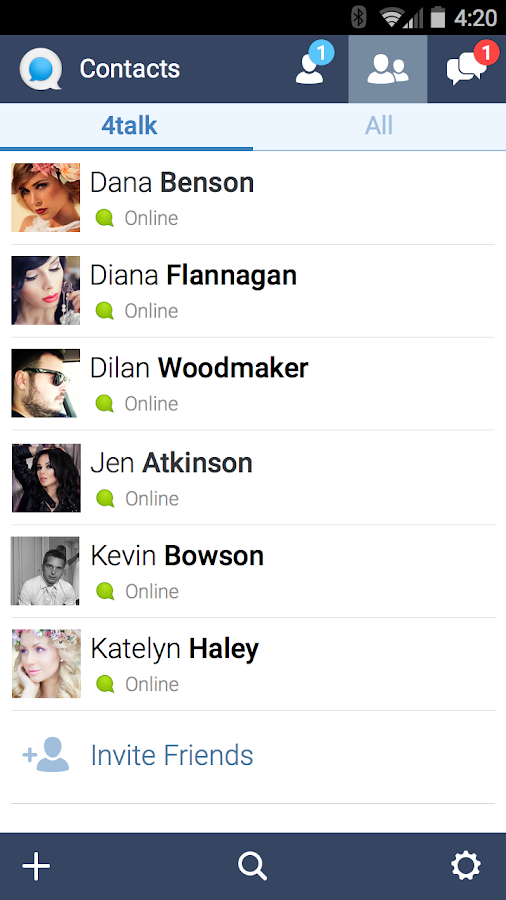 4talk Messenger- screenshot