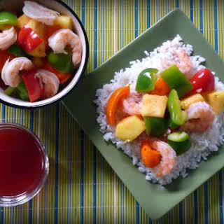 Light Sweet and Sour Shrimp.