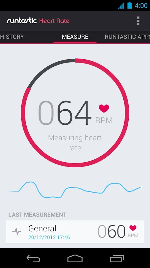 Runtastic Heart Rate - screenshot