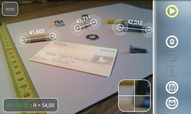Partometer3D - camera measure- screenshot