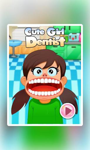 可愛女孩牙醫