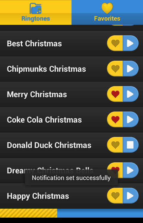 Android Christmas Ringtones - screenshot
