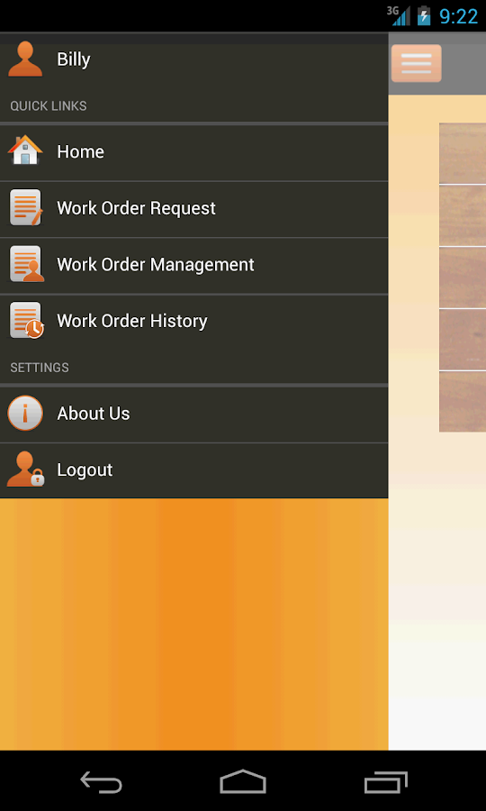 Service proz- screenshot