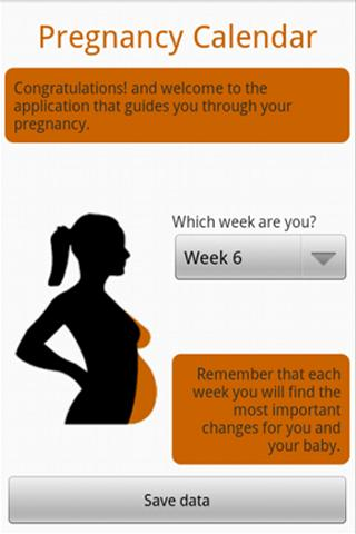 Pregnancy Calendar- screenshot