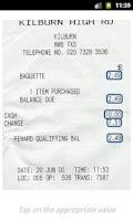 Screenshot of Receipts