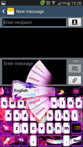 Pink Flame GO Keyboard theme