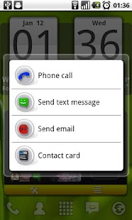 Arti's Fancy Contact Widget- screenshot thumbnail