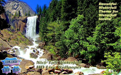 Nice Tall Waterfall 3D- screenshot thumbnail