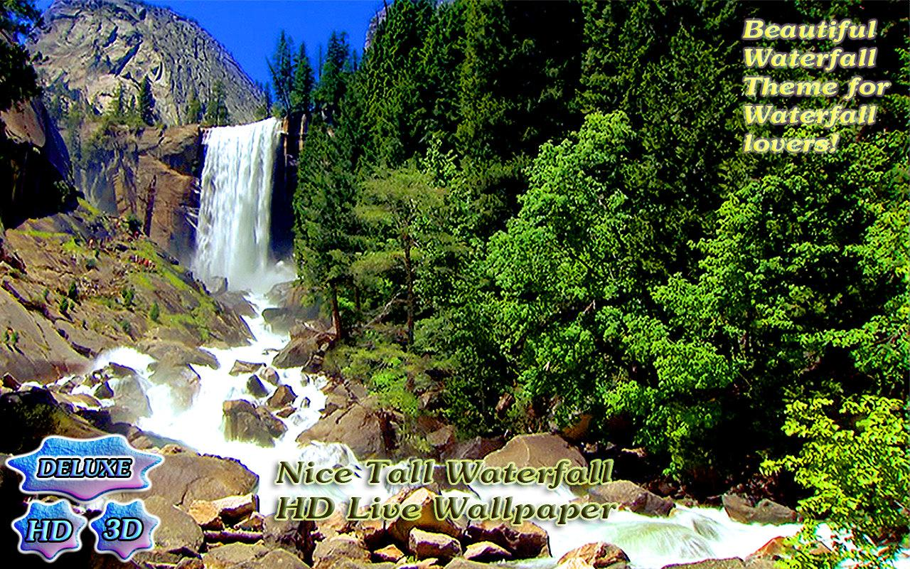 Nice Tall Waterfall 3D- screenshot