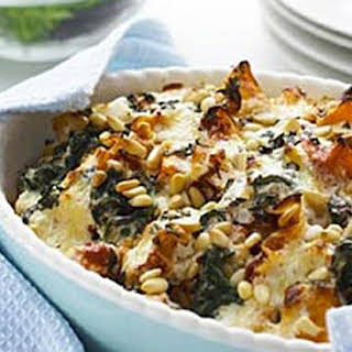 Spinach and Pumpkin Cheesy Lasagnette Bake.