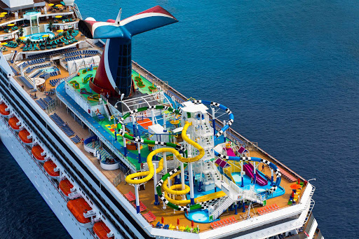Carnival-Sunshine-Slide-Waterpark - Waterworks water park is the sweet spot for a ton of fun atop Carnival Sunshine.