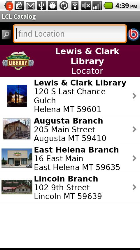 Lewis & Clark Library Catalog - screenshot