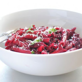 Penne Pasta in a Roasted Beet Sauce
