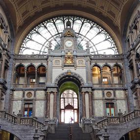 Antwerp Central Station by Jamie Tambor - Instagram & Mobile iPhone ( train station, station, train, antwerp, belgium, iphone,  )