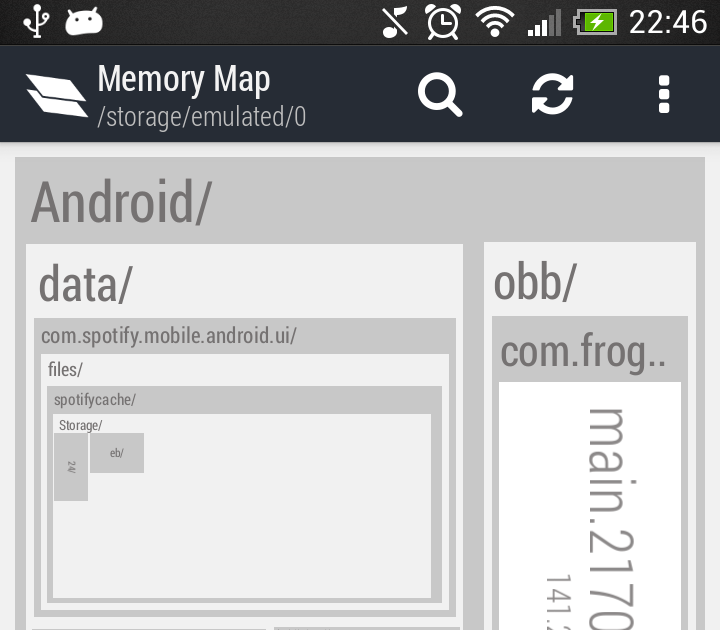 how to download memory map to android