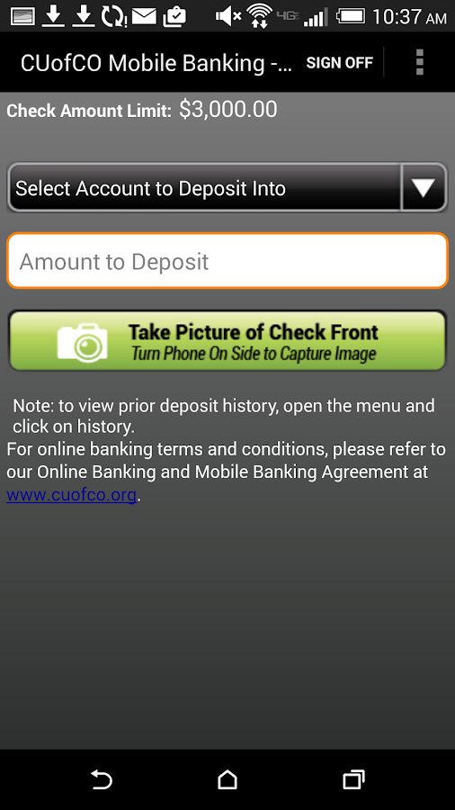 CU of Colorado Mobile Banking- screenshot