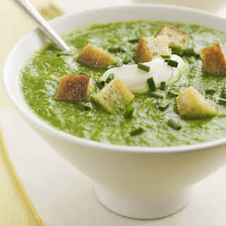 Broccolini-Spring Onion Soup.
