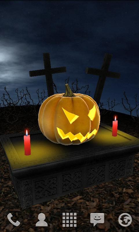Halloween Pumpkin 3D Live Wallpaper- screenshot