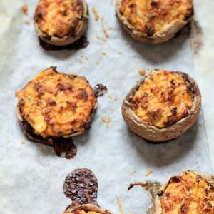 Portobello Mushrooms Stuffed with Yellow Zucchini, Chorizo, and Philadelphia Cream Cheese