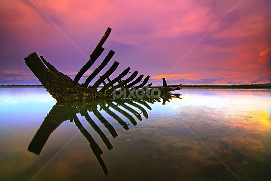 Ribs of the Boat by Nghcui Agustina - Transportation Boats