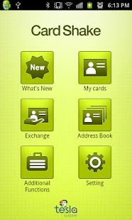 CardShake(business card, NFC) - screenshot thumbnail