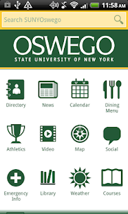 SUNY Oswego Mobile- screenshot thumbnail