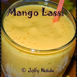 Chilled Mango Lassi.