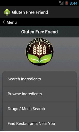 Gluten Free Search Database